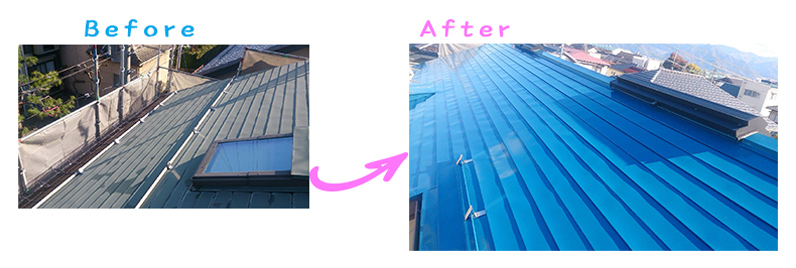 長野県中野市Mさま邸屋根塗り替え工事