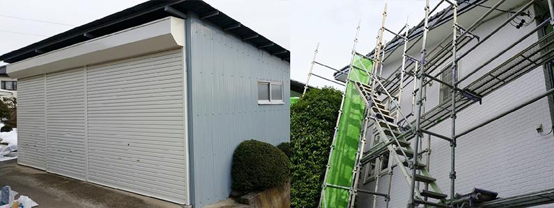 住宅塗装のようす