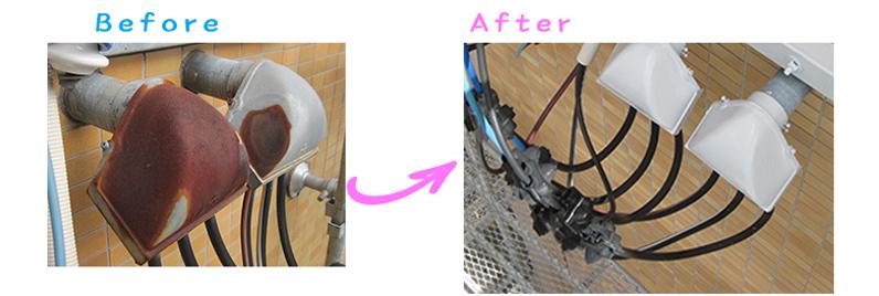 電線引き込みケース塗り替え工事