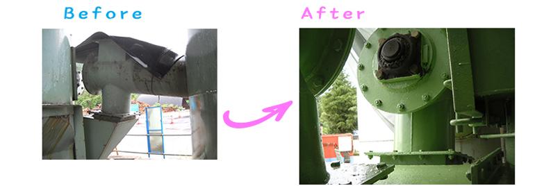 長野県飯山市プラントさま塗り替え工事