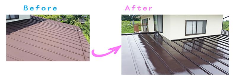 須坂市斎藤さま邸屋根塗り替え工事