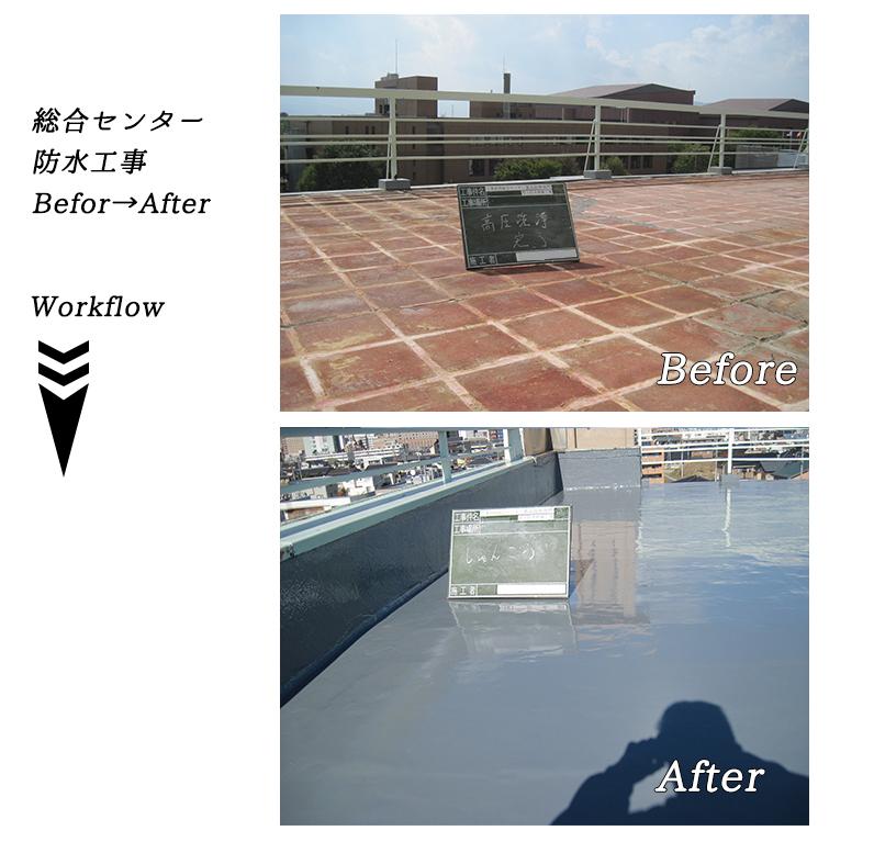総合センター防水工事