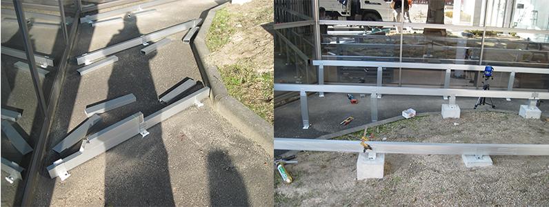 松本市ウッドデッキ施工事例1