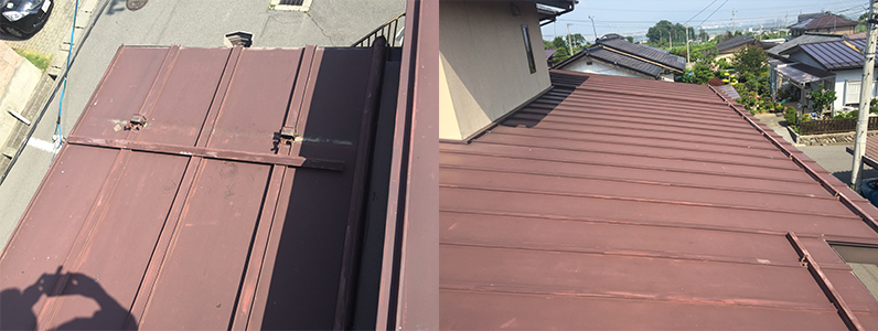 屋根塗装ビフォー