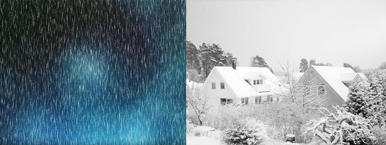 雪や雹に被害の場合、保険が適応される可能性があります