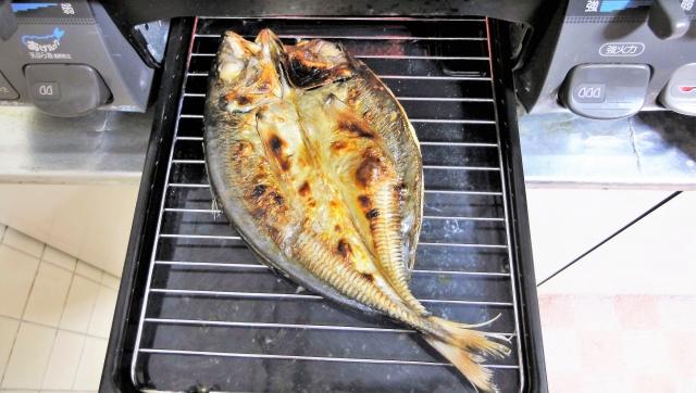 魚焼きグリル掃除