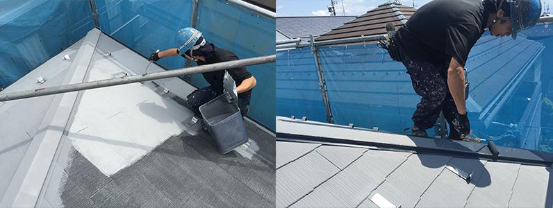 屋根塗装のようす3