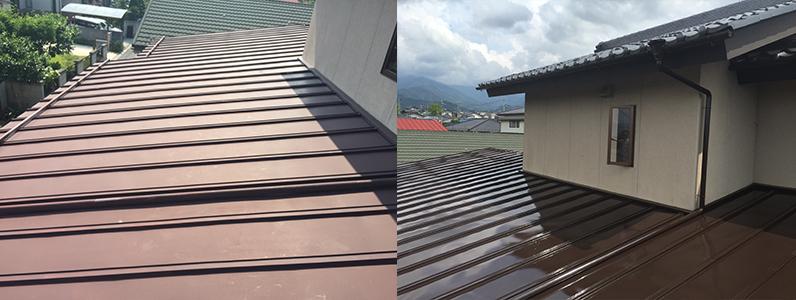 須坂市屋根塗装工事ビフォーアフターです