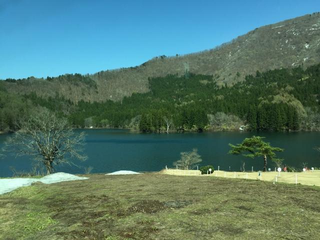 北竜湖のようす