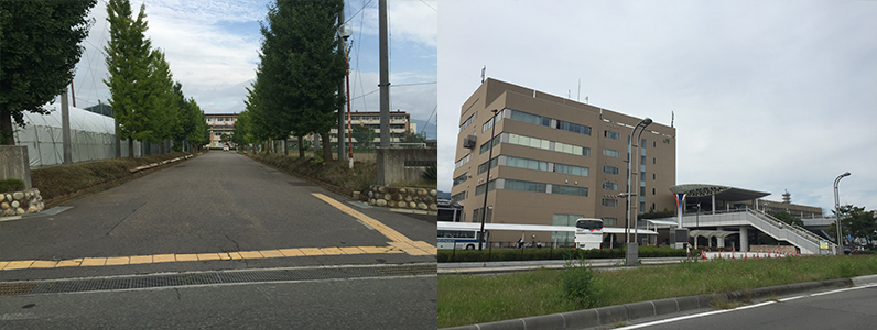 長野東高校・JR長野駅
