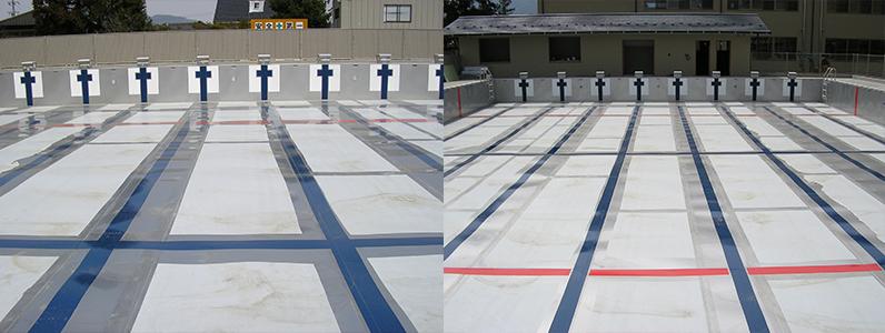 ステンレスプール塗り替え工事3