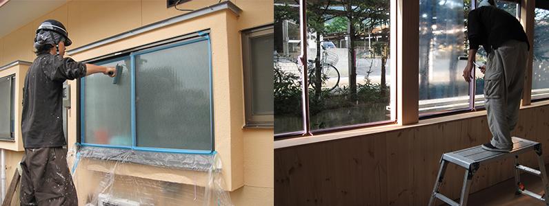 ガラスコーティング塗布状況