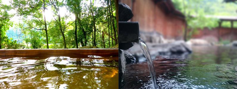 木島平の温泉緑の季節に行くのもいいですよ
