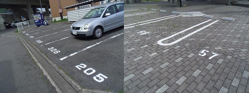 中野市駐車場ライン引き3