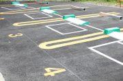 長野市の駐車場ライン引きなら