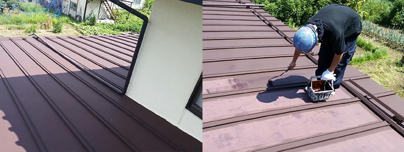 須坂市トタン屋根塗装