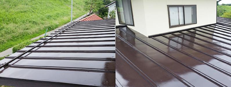 須坂市トタン屋根塗装2