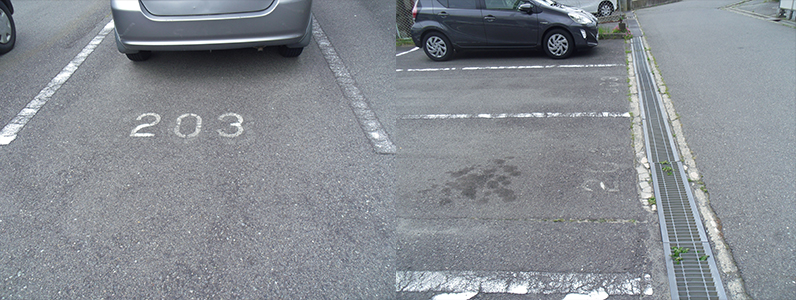 中野市駐車場ライン引き