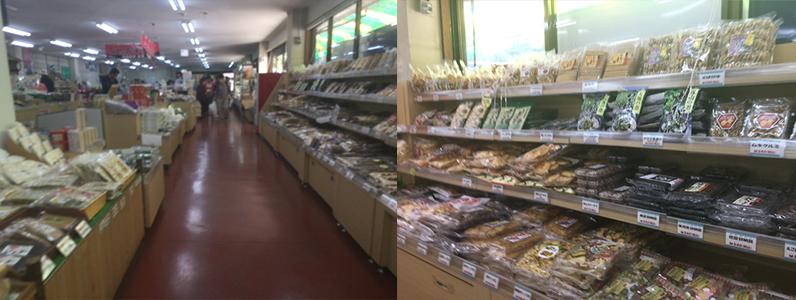 信州新町の道の駅では、もちろん地物の食材も購入できます