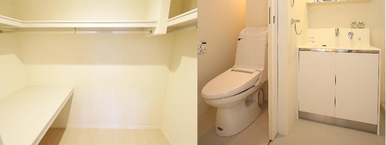 クローゼットとトイレ