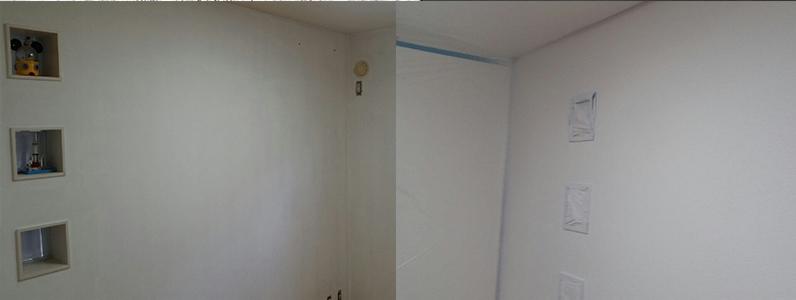 結露にお困りの方からご相談を受け、室内クロスにノン結露塗装を行いました