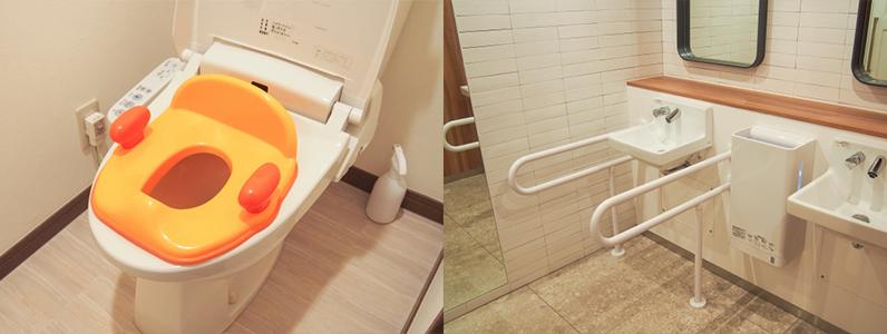 壁に手すりを取り付ける事が難しい場合には便器の周辺に置く簡易型の手すりを利用します