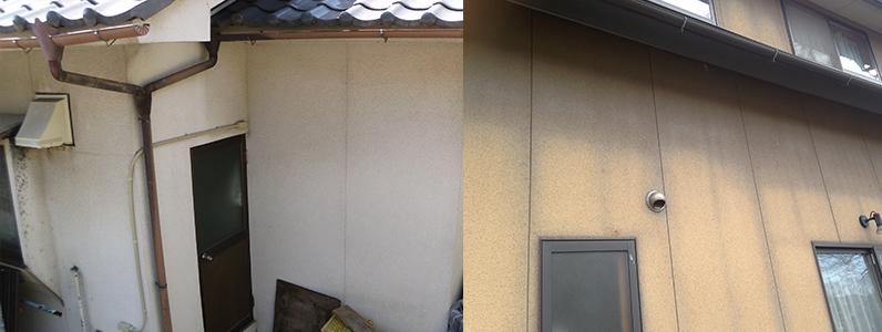 リシン仕上げの壁はカビがつきやすい1