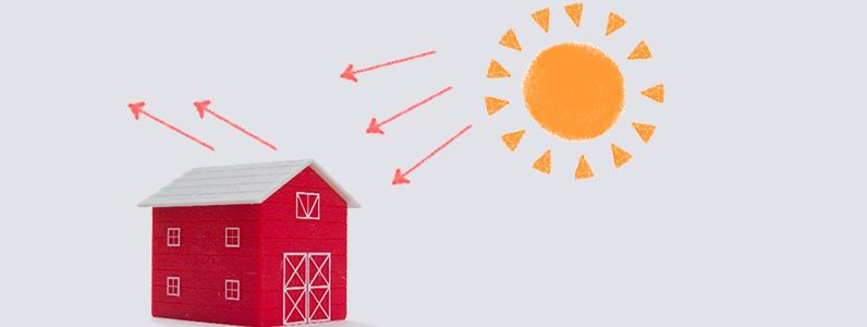 遮熱塗料は反射する機能を持つことから「高日射反射率塗料」とも呼ばれています。
