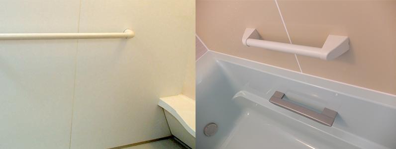 お風呂のバリアリフォームは浴槽に浸かるまでの動きだけではなく、介助歩行を含めたお風呂に入るまでの動線にも配慮をします。