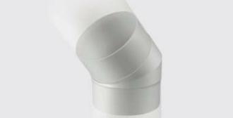 入り組んだ外壁に応じて軒樋と縦樋をつなぐ部品になります。