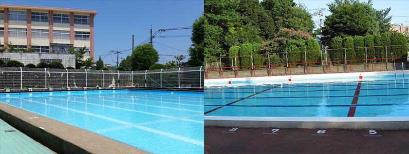 プール本体には、さまざまな素材が使われており、鉄筋コンクリート製プール・プレキャストコンクリート製プール・鋼製プール・アルミ製プール・ステンレス製プール・FRP製プール・セラミックタイル製プ―ルなどがあります