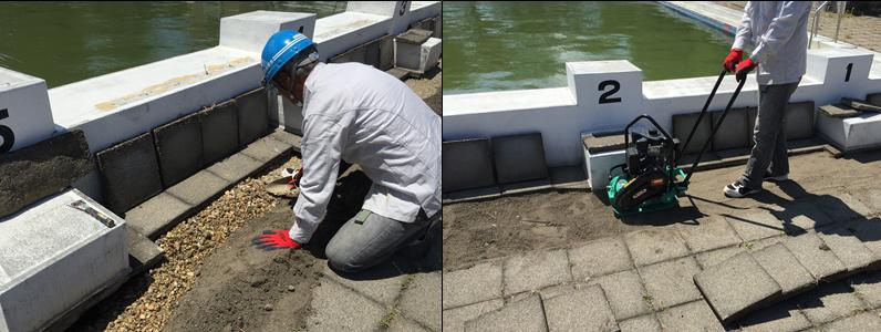 プールの設置個所によっては、環境特性および日常管理のあり方で、劣化の度合いが変わってきます。 寒冷地・紫外線の強い地域・潮風の強い地域などによって異なるため日常点検や管理を行い、不具合の早期発見につなげる必要があります。