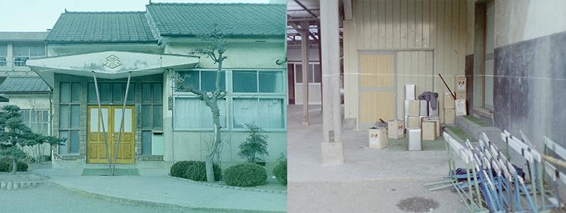 昔の学校です。昭和時代に撮影されたものです