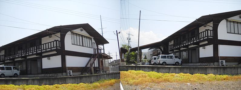 塗装完了後の建物全景です。