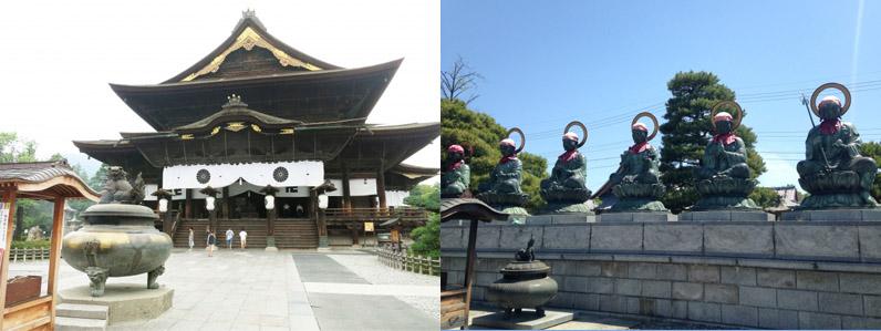 善光寺も人気のある観光スポットです