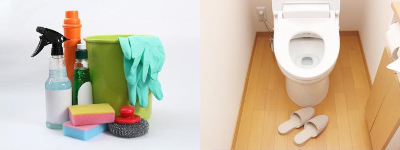 トイレ掃除のストレスを軽減する建材があります