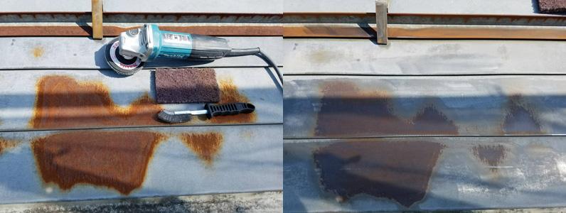 屋根塗装-ケレン