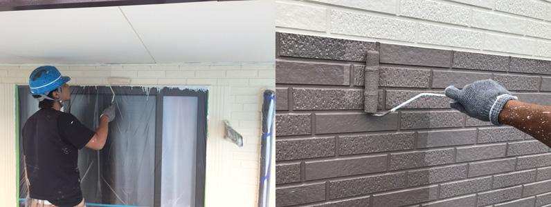 外壁塗装施工中④
