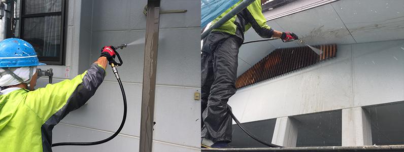 御代田町E様邸外壁塗装工事・高圧洗浄