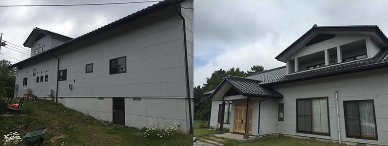 御代田町E様邸外壁塗装工事・施工前