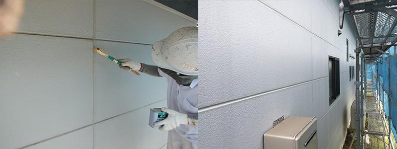 御代田町E様邸外壁塗装工事・シーリングの打ち替え