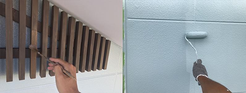 御代田町E様邸外壁塗装工事・各種塗装3