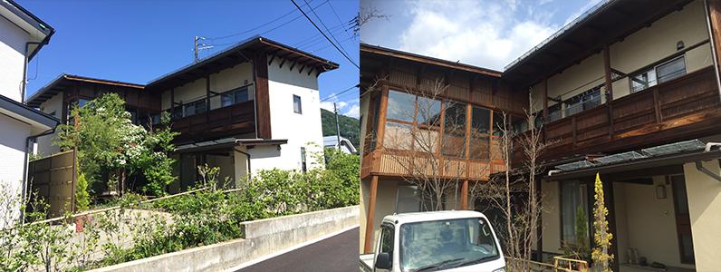 長野市A様邸屋根・外壁塗装工事・施工前