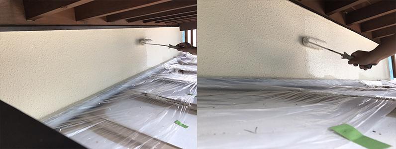 長野市A様邸屋根・外壁塗装工事・外壁上塗り