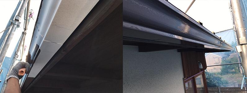 長野市A様邸屋根・外壁塗装工事・雨樋中塗り