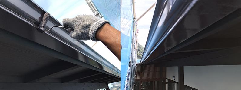 長野市A様邸屋根・外壁塗装工事・雨樋上塗り