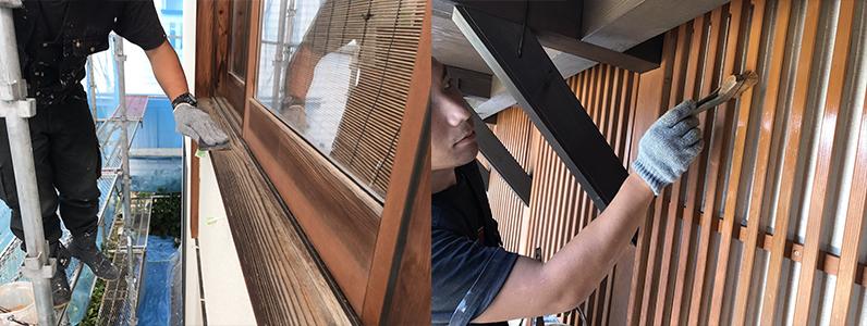 長野市A様邸屋根・外壁塗装工事・木部塗装