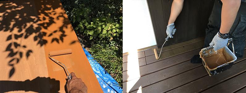 長野市A様邸屋根・外壁塗装工事・木部塗装3