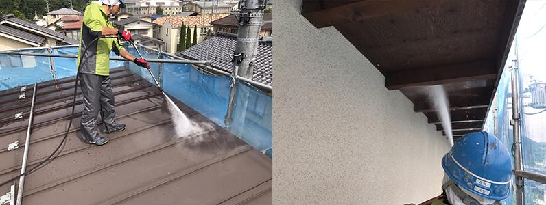 ④長野市A様邸屋根・外壁塗装工事・高圧洗浄