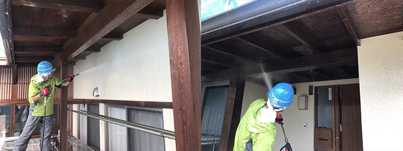 長野市A様邸屋根・外壁塗装工事・高圧洗浄2